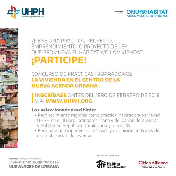 Concurso de Prácticas Inspiradoras: Vivienda en el centro de la Nueva Agenda Urbana